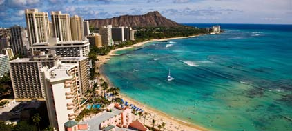 Hawaii: Waikiki Beach (Foto: T.Johnson/ HVCB/srt)