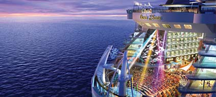 "Das neue Amphitheater am Heck der ""Oasis of the Seas"". (Grafik: Royal Caribbean International)"