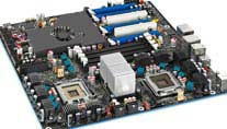 Intel Skulltrail Mainboard (Bild: Intel)