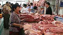 Fleischmarkt in China (Foto: dpa)