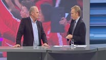 Johannes B. Kerner (re.) und Uli Hoeneß im neuen LIGA total! Studio. (Screenshot: LIGA total!)