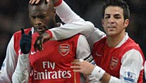 Jubel bei Arsenal: William Gallas (li.) und Cesc Fabregas (Foto: imago)