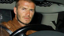 Regelwidrig abgebogen: David Beckham in L. A. (Foto: colourpress)