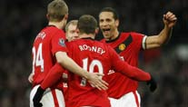 Premier League: Manchester United siegt dank Viererpack von Rooney gegen Hull City.
