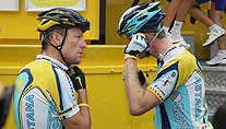 Lance Armstrong und Teamkollege Gregory Rast (Foto: dpa)