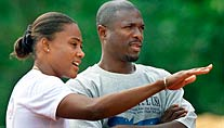 Marion Jones mit ihrem Ex-Trainer Trevor Graham. (Foto: Reuters)