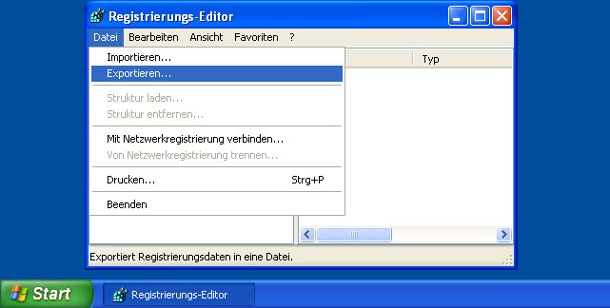 Windows-Registry sichern. Registrierung sichern