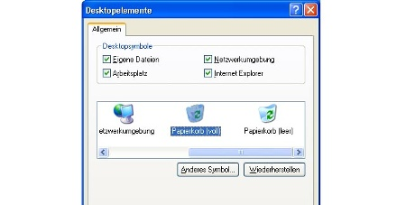Windows-Papierkord-Icon austauschen