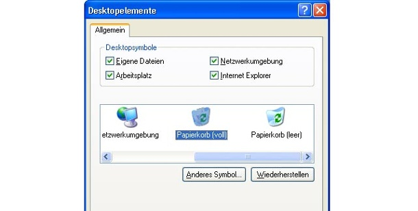 Symbol für den Papierkorb in Windows ändern. Windows-Papierkord-Icon austauschen