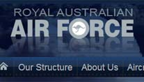 Die Internet-Seite der Royal Australian Air Force (Screenshot: t-online.de)