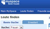 MySpace verbannt 90.000 Sexualverbrecher (Screenshot: t-online.de)