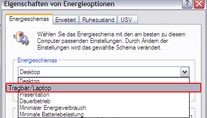 CPU-Takt in den Energieoptionen der Windows XP-Systemsteuerung anpassen. (Screenshot: t-online.de)