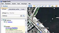 Google Earth zeigt ab sofort Werbeeinblendungen (Screenshot: Google Earth)