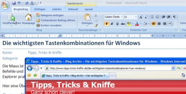 Bloggen mit Word 2007. Bloggen mit MS Word 2007