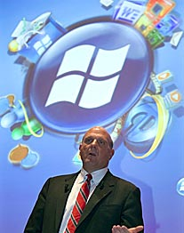 Steve Ballmer bei der Präsentation von Windows Mobile 6.5. (Foto: reuters)