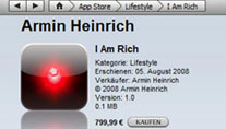 """I Am Rich"" in Apples App-Store. (Foto: Apple)"