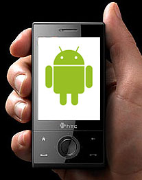HTC-Handy mit Android-Logo. (Foto: HTC/Google)