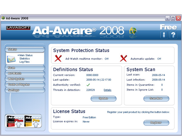 Ad-Aware Free Anti-Malware 8.2 Keygen