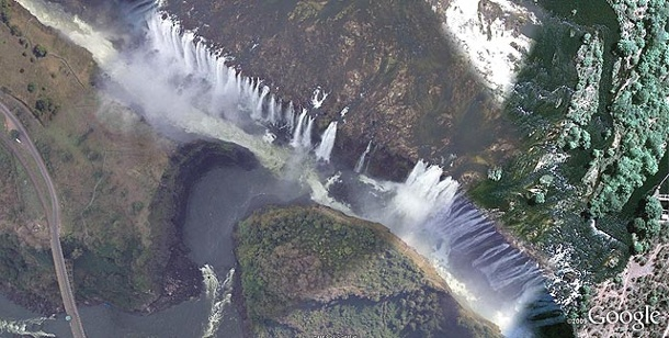 Extreme Orte in Google Earth. (Bild: DigitalGlobe)