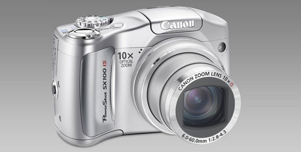 Canon Powershot SX100 IS - Test Bridge-Digtalkamera mit 10fach-Zoom. Digitalkamera Canon Powershot SX100 IS (Foto: pcwelt)
