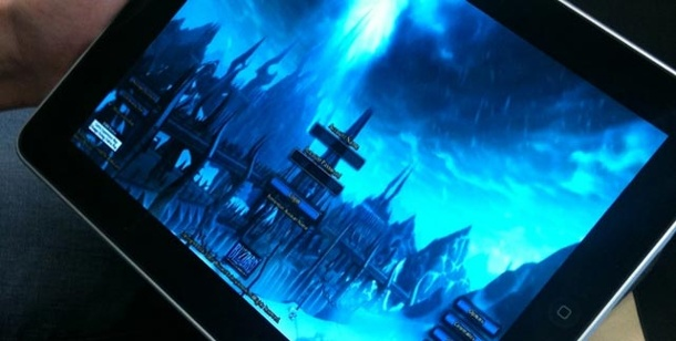 """World of Warcraft"": Mit dem iPad nach Azeroth. World of Warcraft auf dem iPad (Bild: dperry.com)"