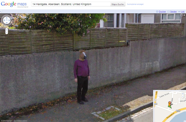 Horse-boy in Aberdeen, Schottland, in Google Street View. (Foto: Google)
