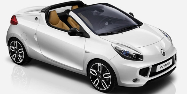 renault wind cabrio mit innovativem dach. Black Bedroom Furniture Sets. Home Design Ideas
