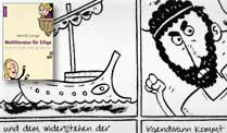 Auszug aus &quot;Odyssee&quot; (Comic aus &quot;Weltliteratur fr Eilige&quot; von Henrik Lange, Knaur Verlag)