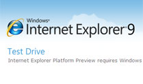 Microsoft: Internet Explorer 9 Beta kommt im September. Internet Explorer 9: Erste Beta im September (Screenshot: t-online.de)