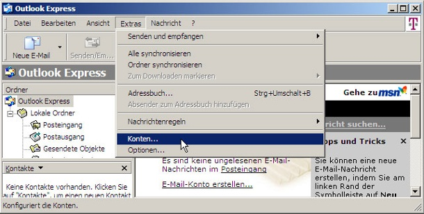 Outlook: E-Mail-Konten sichern.  E-Mail-Konten in Outlook sichern