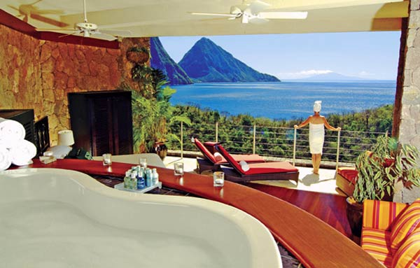 "Karibik: Öko-Design-Resort ""Jade Mountain"" auf St. Lucia (Foto: Jade Mountain)"