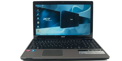 Notebook mit Vierkern-CPU von AMD: Acer Aspire 5553 (Foto: pcwelt)