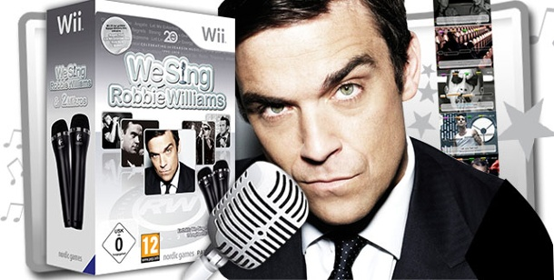 "Singen wie Robbie Williams: Karaoke-Game ""We Sing"" gewinnen. We Sing Robbie Williams (Bild: Nordic Games / Montage: www.t-online.de)"