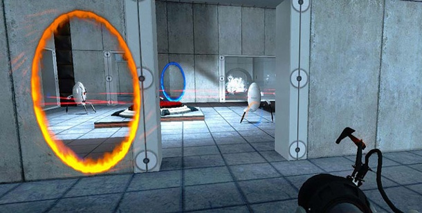 "Actionspiel ""Portal 2"" bietet Cross-Plattform-Matches. Portal 2 (Bild: Valve)"