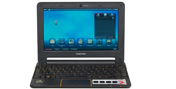 Toshiba AC100-10V:  10,1 Zoll Netbook im Test . Android-Netbook im Test: Toshiba AC100-10V (Foto: pcwelt)
