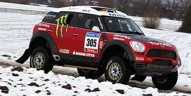 Mini Cooper: Mini All4 Racing mit über 300 PS nach Dakar. Mini All4 Racing - mit über 300 PS zur Rallye Dakar (Foto: Monster Energy X-raid Team)