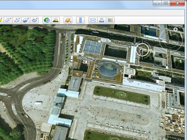 Google Earth (Screenshot: t-online.de)