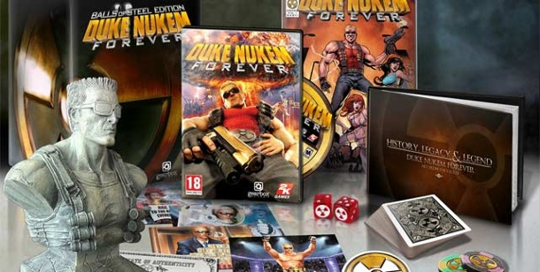 Duke Nukem Forever: Sammlerausgabe Balls of Steel Edition angekündigt. Duke Nukem Forever: Balls of Steel Edition (Bild: 2K Games)