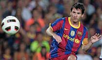 Champions League: Fiesta bei Barcelona gegen Arsenal?. Gegen Arsenal gefordert: Barcelonas Superstar Messi. (Foto: imago)