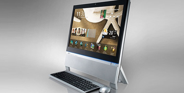 Acer Aspire Z5710: All-In-One-PC  im test. Acer Aspire Z5710: Bildschirm-PC mit 23-Zoll-Touch-Display im test (Foto: pcwelt)