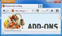 Mozilla Add-ons Blog mit Maskottchen. (Screenshot: t-online.de) (Quelle: t-online.de)