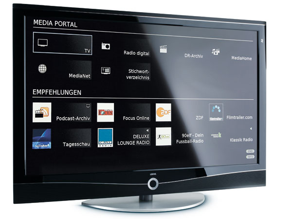 led fernseher loewe art 46 led 200 dr im test foto video homevision 1. Black Bedroom Furniture Sets. Home Design Ideas