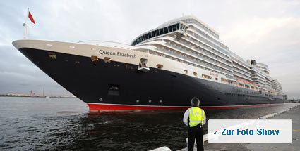 """Queen Elizabeth"" erstmals in Hamburg. Die ""Queen Elizabeth"". (Foto: dpa) (Quelle: dpa)"