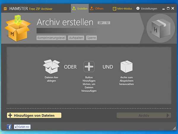 Hamster Free Zip Archiver (Screenshot: Softwareload)