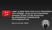 Anonymous leitet die GEMA-Seite um. (Screenshot: t-online.de)