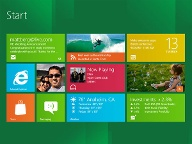 Windows 8 Startscreen (Quelle: Microsoft)