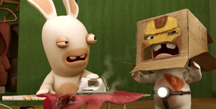 Ubisoft spendiert Raving Rabbids eigene TV-Serie. Rabbids TV Party (Quelle: Ubisoft)