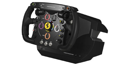 Ferrari F1 Wheel Integral T500: Luxus-Lenker für PC und PS3. Ferrari F1 Wheel Integral T500 (Quelle: Thrustmaster)
