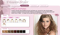 Frisuren und Haarfarben am eigenen Foto ausprobieren. (Quelle: t-online.de)