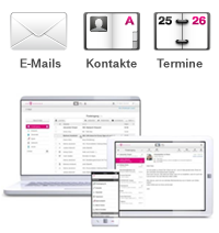 Synchronisation mit dem E-Mail Center
